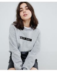 Pieces - Sweatshirt With Space Babe Slogan - Lyst