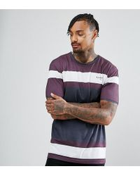 Illusive London - Muscle T-shirt In Burgundy With Logo - Lyst