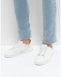 DIESEL - Stud Sole Leather Trainers White - Lyst