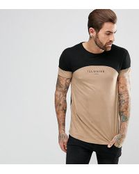 Illusive London   Muscle T-shirt In Stone Suedette   Lyst