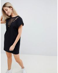 Uncivilised - Lace Up Side Jersey Sweat Dress - Lyst
