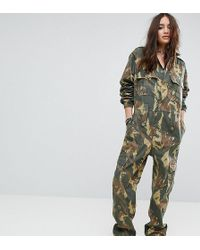 Reclaimed (vintage) - Revived Boiler Suit In Camo - Lyst