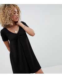 ASOS - Asos Design Petite Ruched Front Swing Dress - Lyst