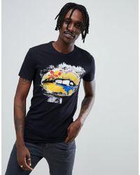 Antony Morato - T-shirt In Navy With Lips Print - Lyst