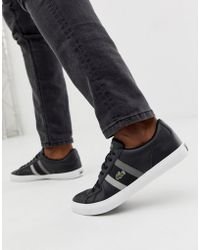 ec2a630857e6b8 Lacoste - Lerond Trainers With Side Stripe In Black Leather - Lyst