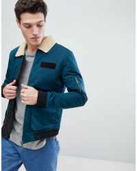 Native Youth | Flight Jacket With Borg Collar | Lyst