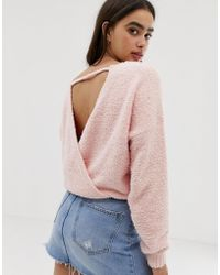 Hollister - Supersoft Jumper With Wrap Back Detail - Lyst