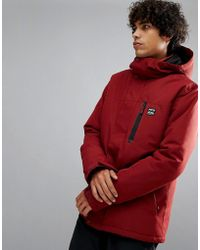 Billabong - All Day Snow Jacket In Red - Lyst