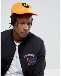 Maharishi - Baseball Cap In Orange - Lyst