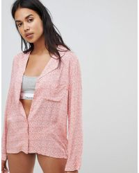 Calvin Klein - Long Sleeve Pyjama Top - Lyst