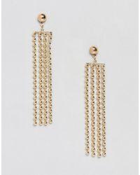 Pieces - Metal Fringe Earring - Lyst