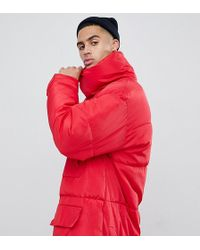 Sixth June - Oversized Puffer Coat In Red - Lyst