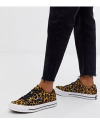 Converse One Star Pony Hair Leopard Print Trainers
