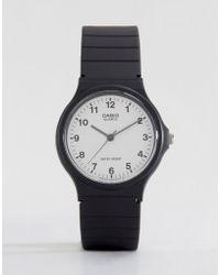 G-Shock MQ-24-7BLL - Montre analogique avec bracelet en résine - Noir