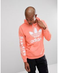 adidas Originals - X Pharrell Williams Hu Hiking Hoodie With Arm Print In Pink Cy7875 - Lyst