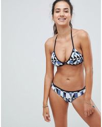Seafolly - Geometric Print Hipster Bikini Bottom - Lyst