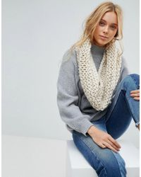 French Connection Chunky Knitted Winter Scarf