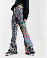 Daisy Street - Pantalon vas sequins arc-en-ciel - Lyst