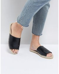 Truffle Collection - Espadrille Mule Sandal - Lyst