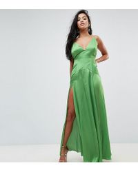 ASOS - Ultimate Cami Thigh Split Maxi Dress - Lyst