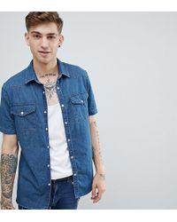 Heart & Dagger - Denim Shirt In Mid Wash - Lyst