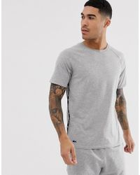 Lacoste - Taped Lounge T-shirt In Grey - Lyst