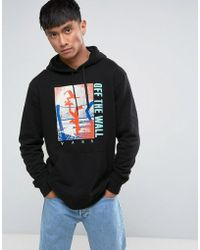 Vans - Above Chima Pullover Printed Hoodie With Backprint In Black Va36klblk - Lyst