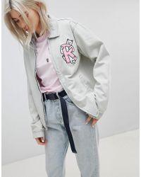 RIPNDIP - Ripndip Boyfriend Denim Jacket With Embroidered Logo And Contrast Gingham Lining - Lyst