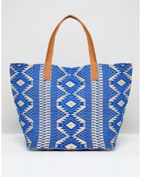 Pieces - Embroidered Bag - Lyst