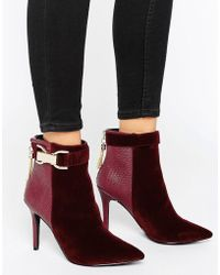 Forever Unique - Thelma Chain Heeled Boot - Lyst