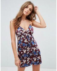 Cotton Candy - Floral Slip Dress - Lyst