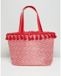Miss Selfridge - Tassel Rim Tote Bag - Lyst