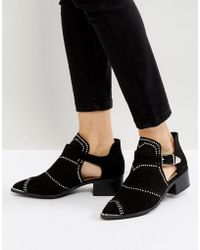 Missguided - Cut Out Studded Ankle Boots - Lyst