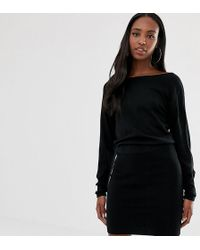 724e6ebb12 ASOS - Asos Design Tall Knit Dress With Pencil Skirt And Slouchy Top - Lyst