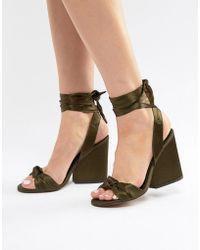 86948c047c6 Lyst - Won Hundred Kanilla Black Silver Block Heel Sandals in Metallic