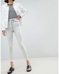 WÅVEN - Anika Acid Wash High Waisted Skinny Jeans - Lyst
