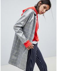 NA-KD - Patent Check Anorak - Lyst