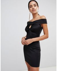 Love - Bardot Bodycon Dress - Lyst