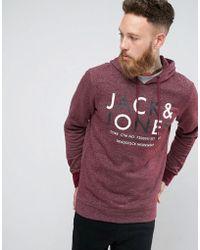 fb4d23bea11c1 Lyst - Sweat capuche Jack   Jones pour homme en coloris Rouge
