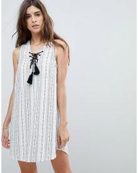Rhythm - Beach Panama Stripe Dress - Lyst