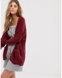 Hollister - Long Line Cardigan - Lyst
