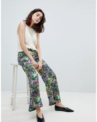 Mango - Floral Print Trouser - Lyst