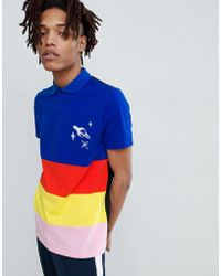 ASOS - Design Rugby Polo With Primary Panels And Embroidery - Lyst