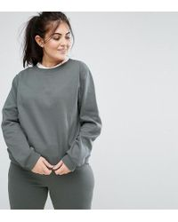 South Beach - Plus Sweatshirt In Sage Green - Lyst