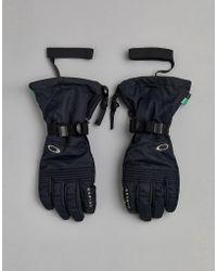Oakley - Snow Roundhouse Ski Gloves Etip 10k Waterproof In Black - Lyst