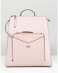 Dune - Backpack In Dusty Pink With Detachable Front Purse - Lyst