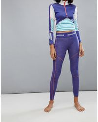 Helly Hansen - Lifa Merino Leggings In Purple - Lyst