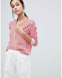 Y.A.S - Trey Striped Shirt - Lyst