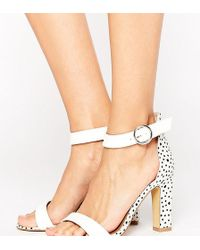 3a13ef34ace The March Rose Gold Block Heeled Sandals in Metallic - Lyst