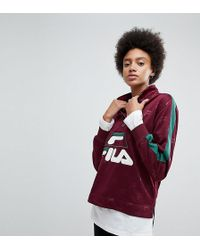 Fila - Funnel Neck Track Top In All Over Logo - Lyst